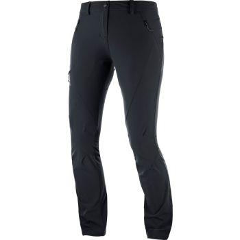 Salomon WAYFARER TAPERED PANT W, ženske pohodne hlače, črna