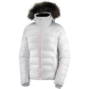 Salomon STORMCOZY JKT W, ženska smučarska jakna, bela