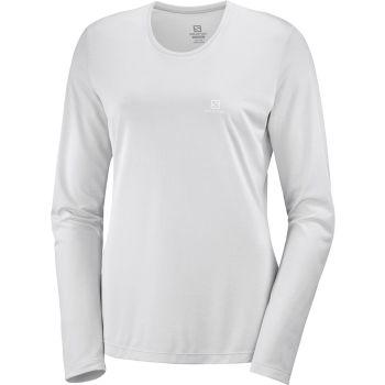 Salomon AGILE LS TEE W, ženska tekaška majica, bela
