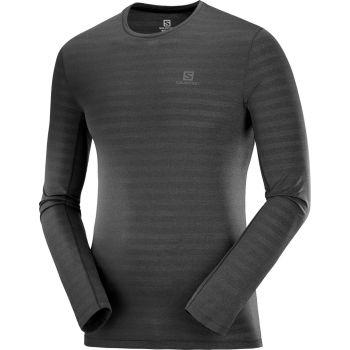 Salomon XA LS TEE M, moška tekaška majica, črna