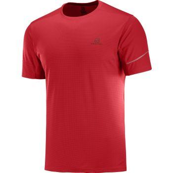 Salomon AGILE SS TEE M, moška tekaška majica, rdeča