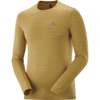 Salomon XA LS TEE M, moška tekaška majica, rumena