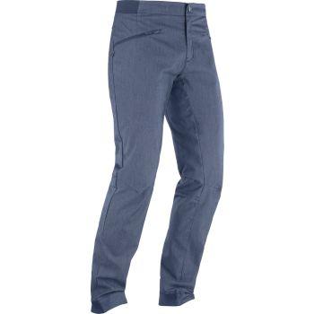 Salomon WAYFARER ALPINE DENIM PANT M, moške pohodne hlače, modra