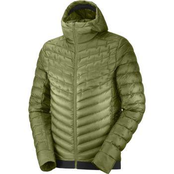 Salomon OUTLINE DOWN HOODIE M, moška pohodna jakna, zelena