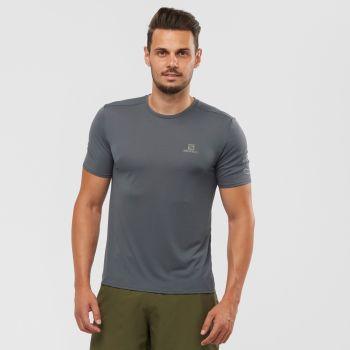 Salomon XA TRAIL TEE M, moška tekaška majica, siva