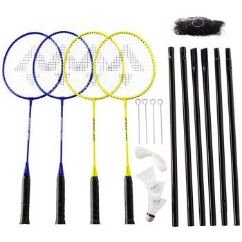 Tecnopro SPEED 200-4 PLAYER NET, badminton set, rumena