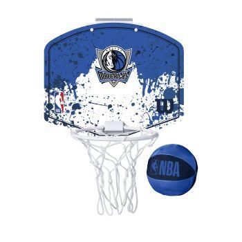 Wilson NBA TEAM MINI HOOP DALLAS MAVERICKS, košarkarska tabla z obročem, modra