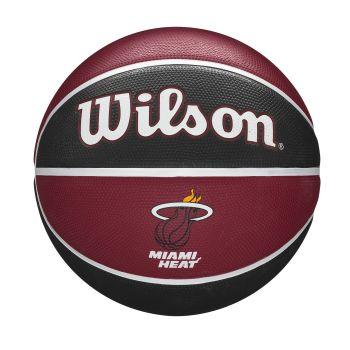 Wilson NBA TEAM TRIBUTE MIAMI HEAT, košarkarska žoga, rdeča