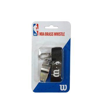 Wilson NBA BRASS WHISTLE WITH LANYARD, piščalka, srebrna
