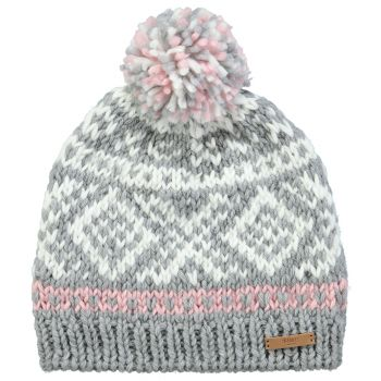 Barts LOG CABIN BEANIE HEATHER GREY ONE SIZE, kapa, siva