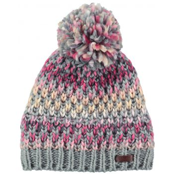 Barts NICOLE BEANIE HEATHER GREY ONE SIZE, kapa, siva