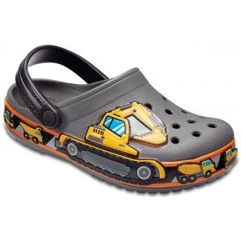 Crocs KIDS' CROCBAND™ FUN LAB GRAPHIC CLOGS, natikači
