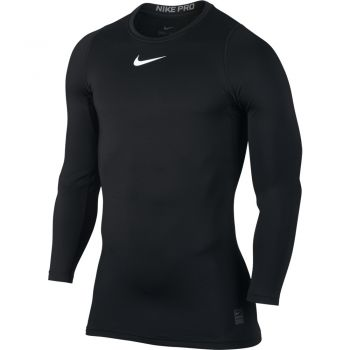 Nike M Np Wm Top Ls Comp, srajca m.fit, črna