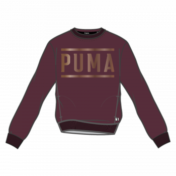 Puma PUMA ATHLETIC CREW SWEAT FL, pulover ž., rdeča