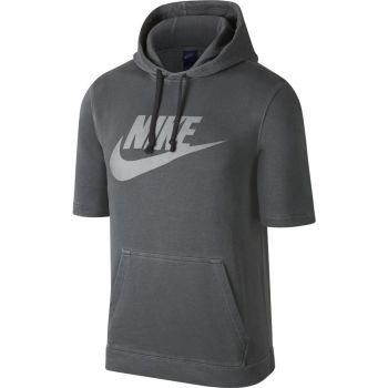Nike 886483, pulover m.kr, siva