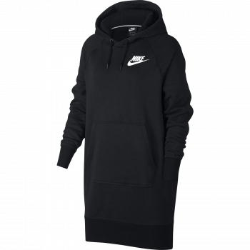 Nike W NSW RALLY HOODIE DRESS RIB, pulover ž.kap., črna