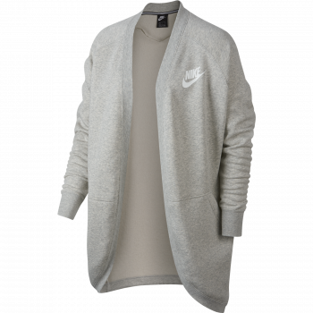 Nike W NSW RALLY CARDIGAN RIB, pulover ž., siva
