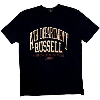 Russell Athletic S/s Crew Tee With Distressed Ath. Department Print, moška majica, modra