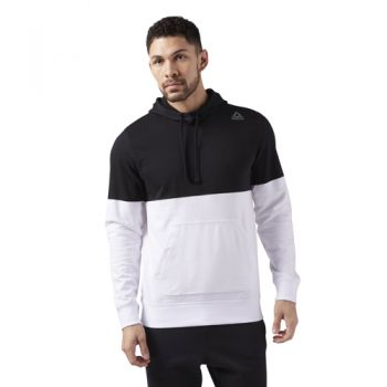 Reebok Elements Yarn Dye Hoodie, pulover m.fit, črna