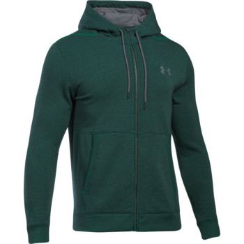 Under Armour Threadborne Fz Hoodie, pulover m.fit, zelena