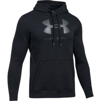 Under Armour Rival Fitted Graphic Hoodie, pulover m.fit, črna