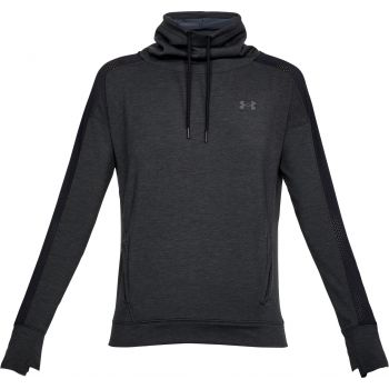 Under Armour Featherweight Fleece Funnel-blk/blk/gph, pulover ž.fit, črna
