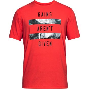 Under Armour Gains Arent Given Ss-red//blk, majice, rdeča