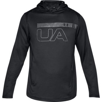 Under Armour Tech Terry Po Graphic Hoodie-blk//ath, pulover m.fit, črna