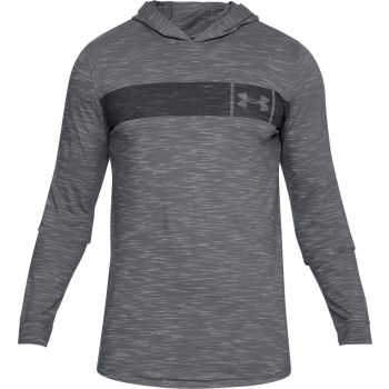 Under Armour Sportstyle Core Hoodie-gph//blk, pulover m.fit, siva