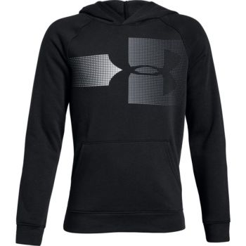 Under Armour RIVAL LOGO HOODY, pulover o.fit, črna