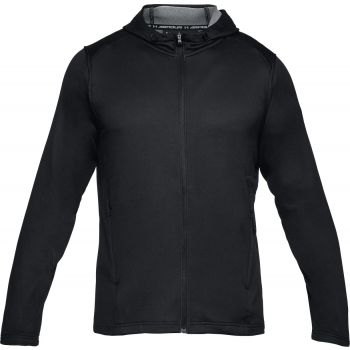 Under Armour Tech Terry Fz Hoodie-blk//blk, moška jopa, črna