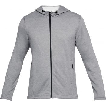 Under Armour Tech Terry Fz Hoodie-stl//blk, moška jopa, črna