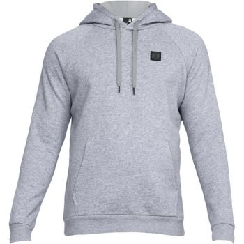 Under Armour RIVAL FLEECE PO HOODY, pulover m.fit, siva