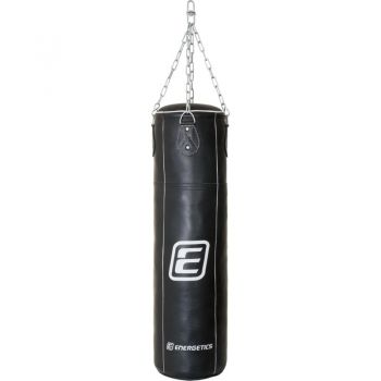 Energetics Punching Bag Leather 108cm Tn, boksarska vreča, črna