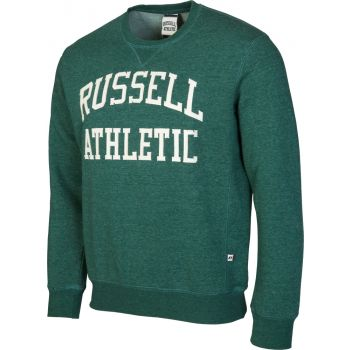 Russell Athletic CREW NECK TACKLE TWILL SWEATSHIRT, moški pulover, zelena