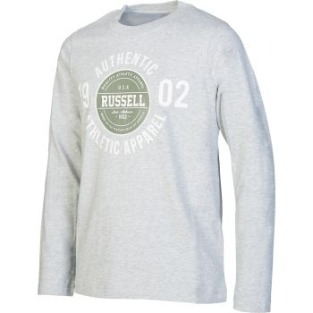 Russell Athletic L/s Crew Neck Tee With 1902 Print, maja o., siva