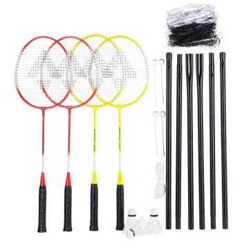 Tecnopro SPEED 200 SET 4, badminton set, rumena