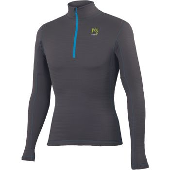 Karpos CRODA LIGHT HALF ZIP FLEECE, puli m.poh zip, siva