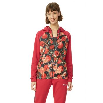 Desigual SCARLET BLOOM, jopa ž.fit, rdeča