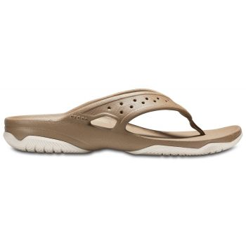 Crocs SWIFTWATER DECK FLIP, japonke, zlata