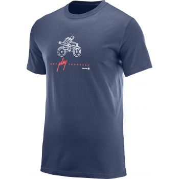 Salomon OUTDOOR GRAPHIC SS TEE M, maja m.kr poh, modra
