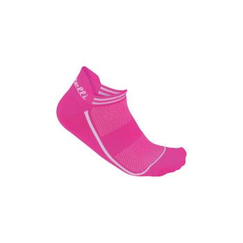 Castelli INVISIBILE SOCK, nogavice m.kr kol, roza
