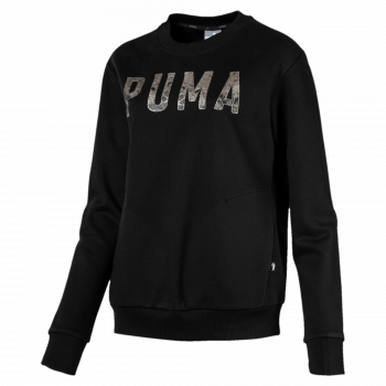 Puma PUMA ATHLETIC CREW SWEAT FL, pulover ž., črna