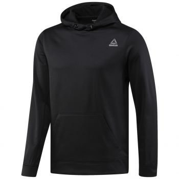 Reebok WOR POLY FLEECE HOOD TECH, pulover m.fit, črna