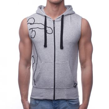 Boxeur SLEVELESS SWEATSHIRT, pulover m.br fit, siva