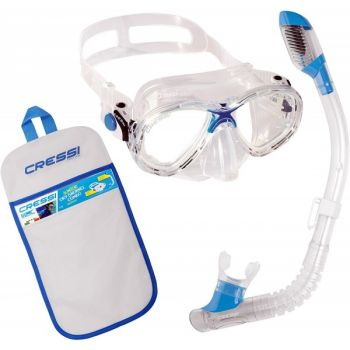 Cressi Sub MAREA JR + MINIDRY, set za potaplanje, transparent