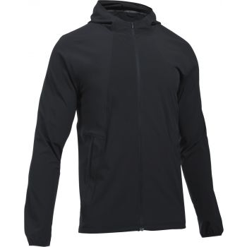 Under Armour OUTRUN THE STORM JACKET-BLK/BLK/REF, moška jakna, črna