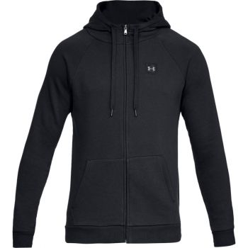 Under Armour RIVAL FLEECE FZ HOODY, moška jopa, črna