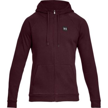 Under Armour RIVAL FLEECE FZ HOODY, moška jopa, rdeča