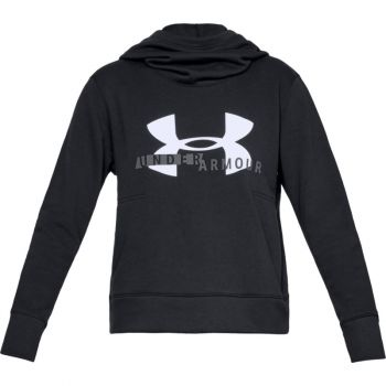 Under Armour COTTON FLEECE SPORTSTYLE LOGO HOODIE, pulover ž.fit, črna